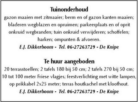 Adv A-2 Dikkerboom Tuinonderhoud