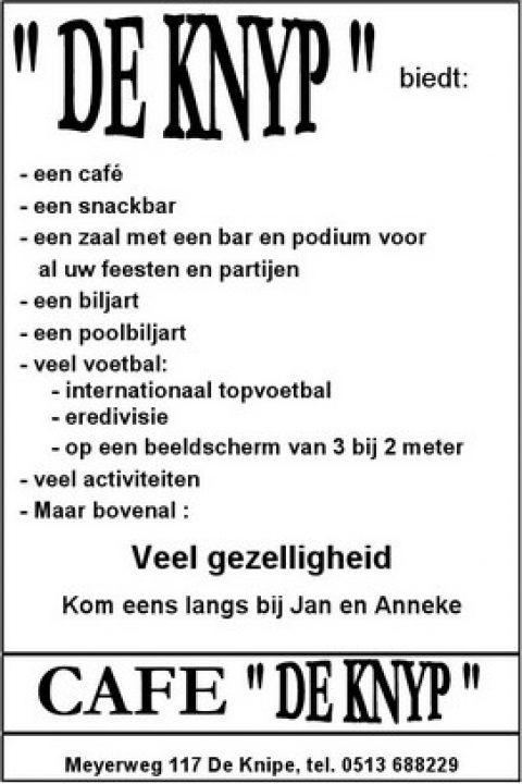 Adv Z-1 Cafe De Knyp