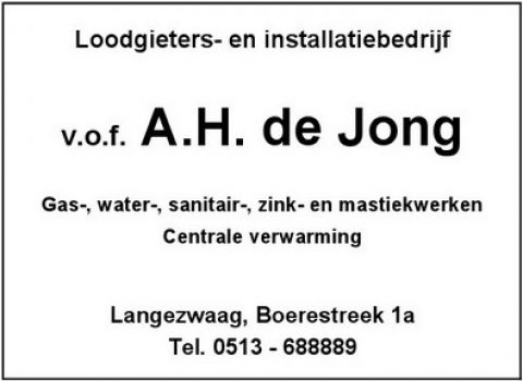 Adv Z-1 Loodgietersbedrijf A.H. de jong