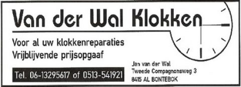 Adv Z-1 Van der Wal klokken